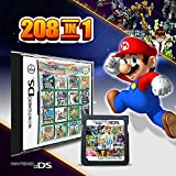 208 in 1 Game Cartridge Multicart,DS Game Pack Card Compilations, Fine Works Combo Multicart for Ninte-ndo DS, NDSL, NDSi, NDSi LL/XL, 3DS, 3DSLL/XL, New 3DS, New 3DS LL/XL, 2DS, New 2DS LL/XL (black)