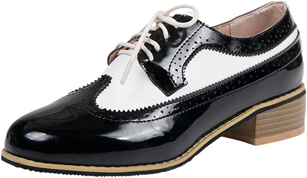 Over item handling ☆ YOCheerful Vintage British Style Single Women's Shoes Thi Carved Max 49% OFF