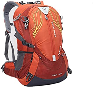 ZXCMNB Backpack, Outdoor Travel Backpack Super Light Piggyback Riding Sports Backpack Mountaineering Hiking Bag Camping Climbing Outdoor Bag 50x30x20cm (Color : Orange)