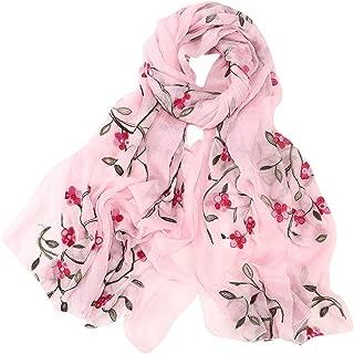 Women Embroidery Chiffon Scarf Hijab Wrap Shawls Headband Muslim Hijabs S