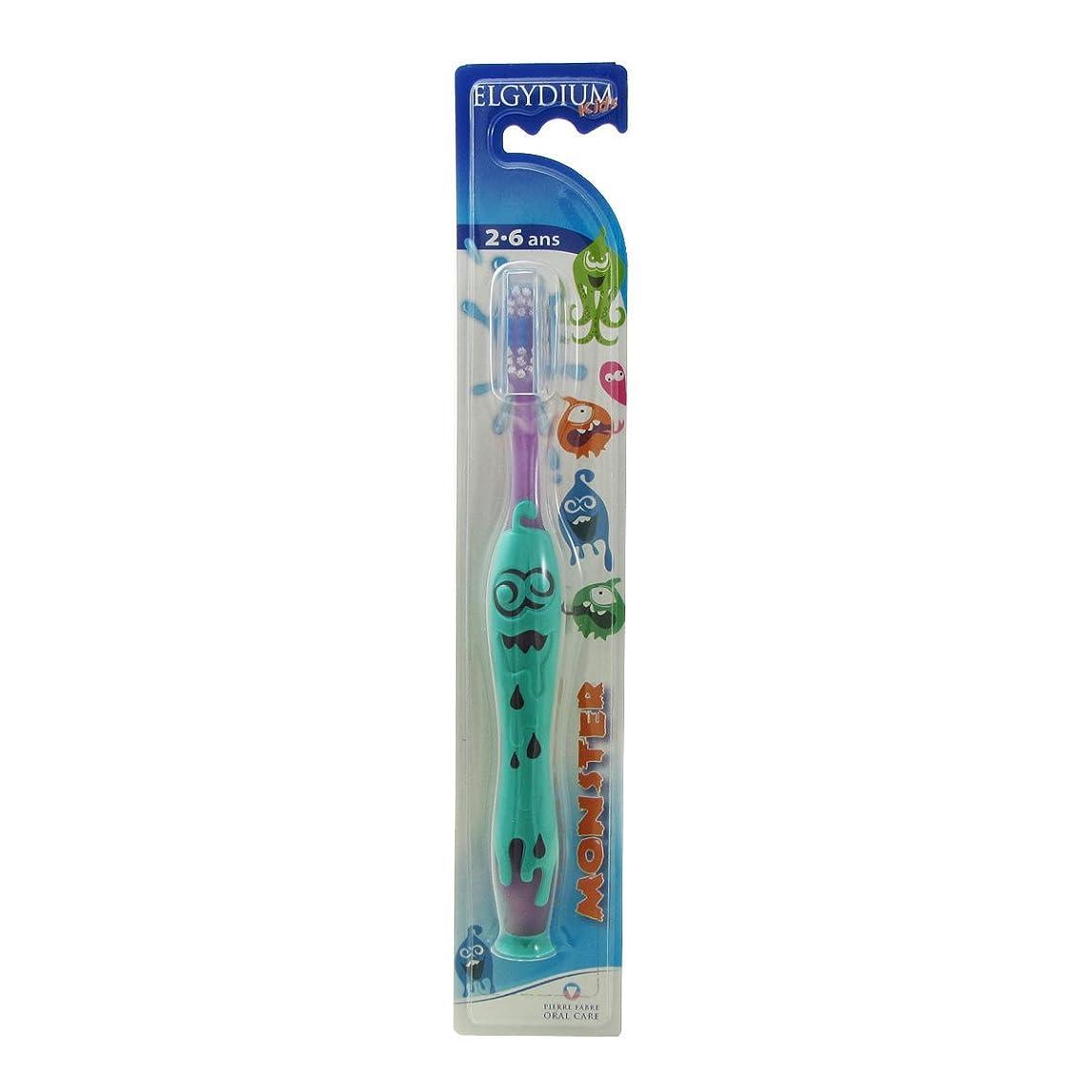精通したくしゃみトランスペアレントElgydium Kids Monster 2/6 Soft Toothbrush [並行輸入品]