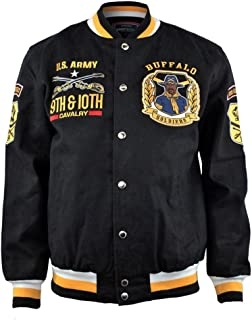 Buffalo Soldiers American Heroes New Twill Jacket Black