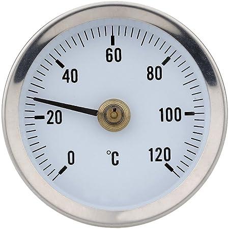 Saiko 0 120 Grad Thermometer Clip Auf Rohr Thermometer Heißes Wasser Rohr Thermometer Edelstahlrohr 6 3 Cm Temperaturanzeige Mit Feder Baumarkt
