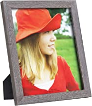 RPJC 8x10 Picture Frames Made of Solid Wood High Definition Glass for Table Top Display and Wall Mounting Photo Frame Driftwood Finish