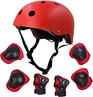 DAZUAN自転車 ヘルメット こども用 キッズプロテクターセット 3-8歳向け 調節可能 軽量 高剛性 通気性 サイクリング スケートボード ローラースケート 保護用 子供 自転車 プロテクター 子供のヘルメットプロテクター
