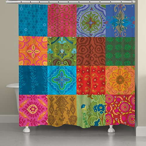 """Laural Home """"Gypsy Pattern I Shower Curtain, 71"""" by 74"""""""