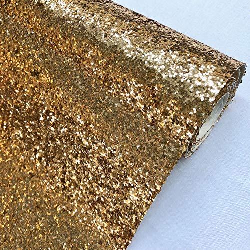 Discover Lifestyle & Fashion Fabrics Antik Gold Premium Chunky Polsterstoff Glitzer Stoff für DIY Handwerk Haarschleifen 137 cm breit – Verkauf pro halben Meter
