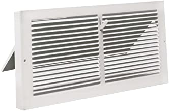 "White Baseboard Register with 7/8"" Turn Back (10"" x 6"" Duct Opening/ ~11.375"" x 7.25"" Overall)"