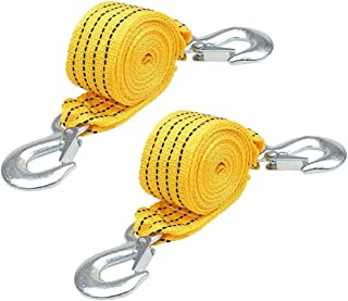 Tow Rope - WENTS Fluorescent Nylon Car Tow Rope with Eagle Claw Hook 3 Meters High Strength Emergency Towing Rope