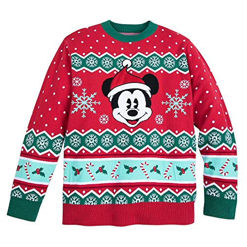 Disney Mickey Mouse Family Holiday Sweater for Men Size Mens L Multi