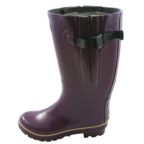 1c942309f8a Jileon Extra Wide Calf Rubber Rain Boots for Women-Widest Fit Boots in The  US