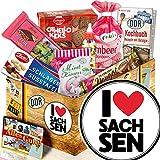 I Love Sachsen - Ost Süßigkeiten - Geschenkset Sachsen