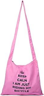 OriginalFromThailand VELOTIQUE Bicycle Shoulder Bag Urban Cyclist Keep Calm, Pink Color 1 pcs.