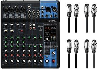 Yamaha MG10X U 10canales Mezclador W/FX + 4x 20m micrófono XLR Cables