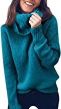 COPPEN Women Blouse Solid Long Sleeve Turtleneck Knitted Sweater Jumper Pullover Top