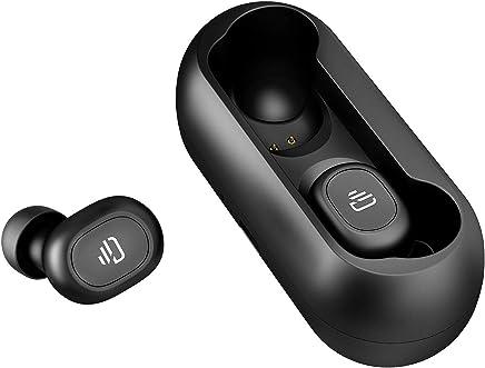 Cascos Bluetooth Inalámbricos,Dudios Air TWS Manos Libres Auriculares Bluetooth 5.0 Deportivos Resistente al Agua con Caja de Carga magnética Sonido Estéreo con Micrófono para iOS y Android(Negro)