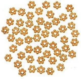 Beautiful Bead 18K Gold Vermeil Bali Silver Daisies 4mm (50pcs)