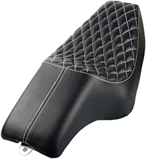 Motorcycle Rider Driver Passenger Seats Two Up Seat For Harley Sportster 883 Iron XL883 XL1200 48 72 1200 Black (Style 3)
