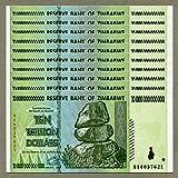 Zimbabwe 10 Trillion Dólares x 10 unidades AA 2008 P88 Consecutive UNC Currency Bills