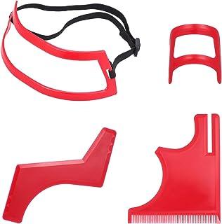 4pcs Hair Cutting Kit Multi-Edge Hairline Beard Template Stencil Guide for Men Hairline Neckline & Beard Grooming Styling ...