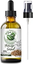Hemp Seed Oil. 4oz. Cold-pressed. Unrefined. Organic. 100% Pure. Non-GMO. Hexane-free. Relieves Symptoms of Eczema Psoriasis Rosacea Acne. Natural Moisturizer. For Hair, Skin, Beard, Stretch Marks.