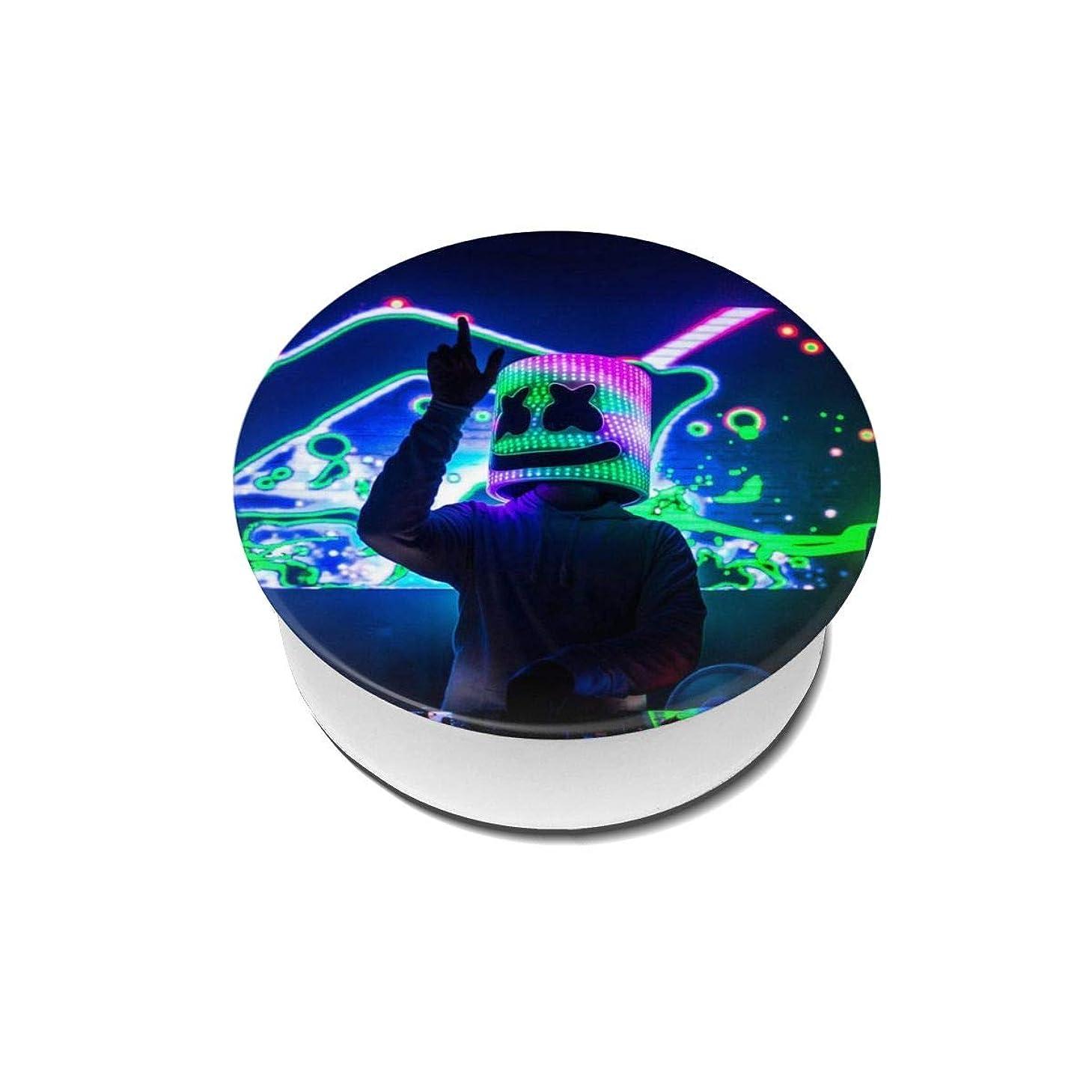 禁止ライトニング酸っぱいYinian 4個入リ マシュメロ Marshmello スマホリング/スマホスタンド/スマホグリップ/スマホアクセサリー バンカーリング スマホ リング おしゃれ ホールドリング 薄型 スタンド機能 ホルダー 落下防止 軽い 各種他対応/iPhone/Android(2pcs入リ)