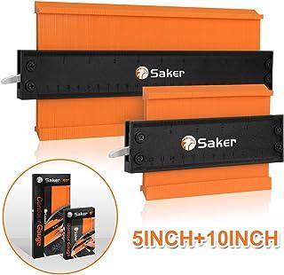 Saker Contour Duplication Gauge-Adjustable Lock -Precisely Copy Irregular Shape Duplicator -Irregular Welding Woodworking Tracing - Must Have Tool for DIY Handyman, Construction(10 Inch+5 Inch)