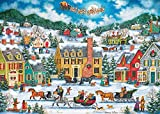 """YXKJGS Jigsaw Puzzles,The Best Games and Gifts for Adults and Kids,1000 Pieces Large Educational Puzzles,Size 27"""" x 20"""" (Christmas-Sleigh)"""