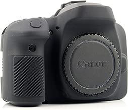 CEARI Professional Silicone Camera Case Rubber Housing Protective Cover for Canon EOS 80D Digital SLR Camera - Black
