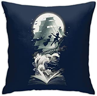 dongpujidiangongsi Peter Pan in Watercolor Throw Pillow Indoor Cover with Pillow Insert 18 x 18