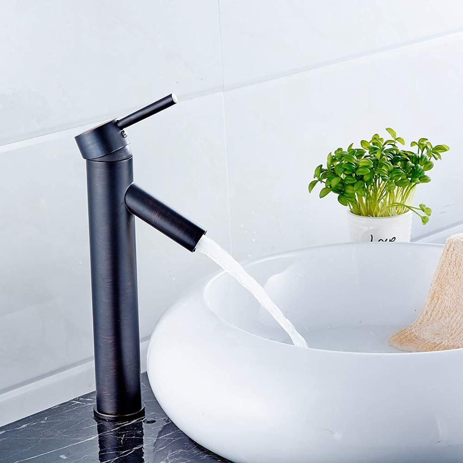 Floungey Kitchen Sink Taps Bathroom Sink Taps Oil Rubbed Bronze Faucet Bathroom Hot And Cold Water Washbasin Taps Black And Tall Basin Faucets Accessories