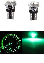 cciyu 10 Pack Green T5 37 73 74 Wedge 3-SMD Speedometer Gauge Cluster LED Light Bulbs