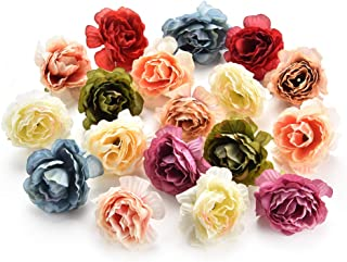 Fake Flowers Heads for Decoration Crafts Bulk Peony Flower Artificial Flower Heads Decorative Scrapbooking Cherry Blossoms Home Wedding Birthday Party Decoration Supplies Decor 30PCS 4cm (Colorful)