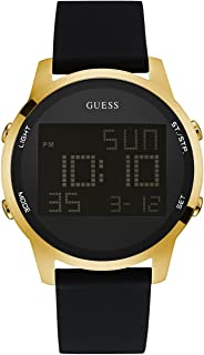 Men's Stainless Steel Digital Silicone Watch