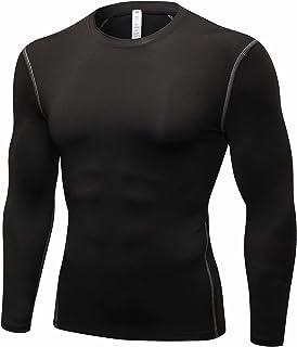 Muxuryee コンプレッション ウェア 加圧シャツ メンズ 長袖 スポーツインナー メンズ アンダーシャツ スポーツシャツ 吸汗 速乾