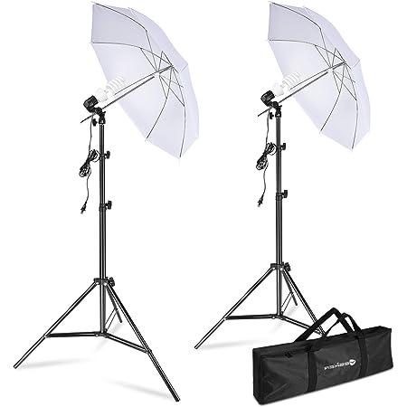 Limo Studio Umbrella Diffuser Continous Lighting Kit for Photo and Video Studio Shooting AGG2903