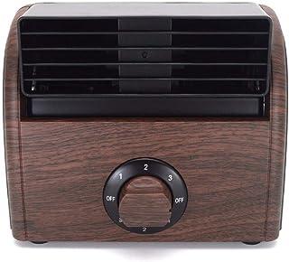 WBXZAL-Ventiladores Velocidad Ajustable de Madera Tres Ventilador de Escritorio Mini Ventilador sin aspas del Ventilador portatil Ventilador silencioso,B