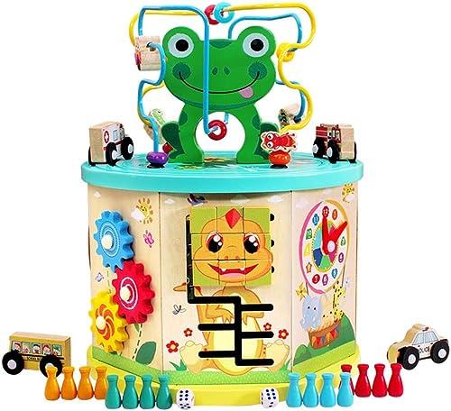 Xyanzi Bébé Jouets Jouets éducatifs pour Enfants, Coffre au trésor, Cube d'apprentissage Ooden Bead Maze Ducational Toys pour Tout-Petits (Taille   B)