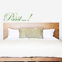 Indigos UG wandtattoo – muursticker – muurtattoo Pssst...! - Decoratie keuken woonkamer muur 180x48cm lindegroen