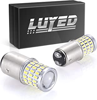 LUYED 2 x Super Bright 9-30v 1157 2057 2357 7528 BAY15D LED Bulbs Used For Turn Signal Lights, Tail Lights, Xenon White