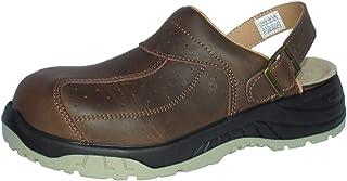 EuroRoutier Premium Brown Full Leather, Sabots de Sécurité SB+A+E+FO+SRC