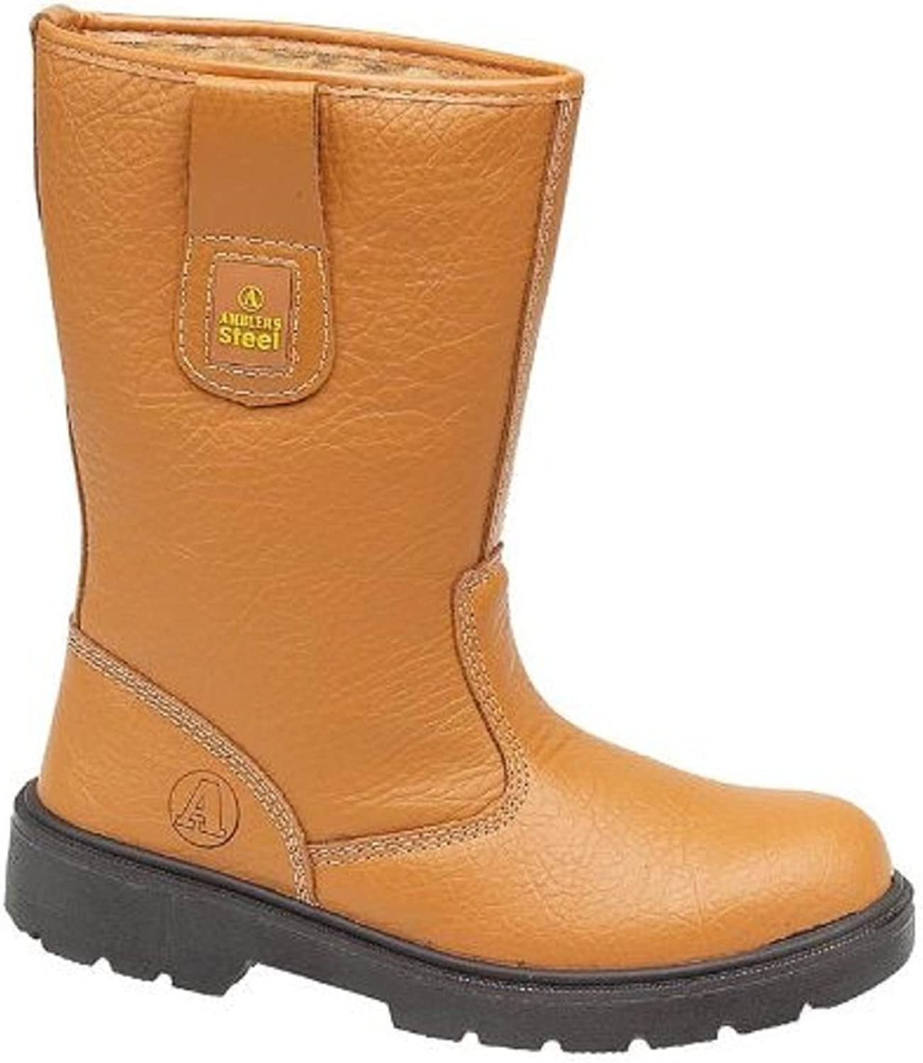 Mens Amblers Steel FS124 Lined Safety Rigger Boots