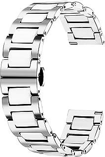 Ersatzarmband Edelstahl Gliederarmband 12mm Klippverschluss Uhrenarmband