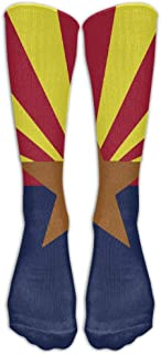 iuitt7rtree Fashion Arizona State Flag Long Stocking Casual Crew Socks