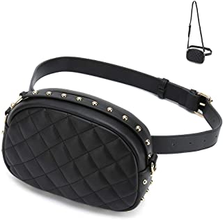 Fanny Packs for Women Designer Waist Purses Fashion Belt Bags (Black)