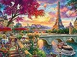 cnmd Games-Vive la Paris-Puzzle de 1000 piezasJuguetes de Gran tamaño para Adultos, Adolescentes, Jugando en el hogar, Juguetes de Entretenimiento, decoración del hogar