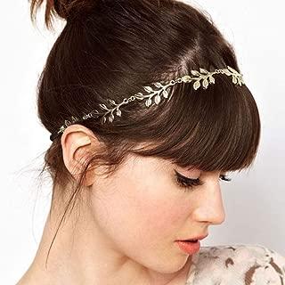 Yalice Elastic Head Chain Leaf Headband Hair Acessories for Women and Girls