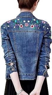 women's embroidered denim jacket