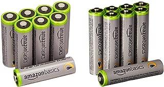 Amazonベーシック 充電池 高容量充電式ニッケル水素電池単3形8個セット (充電済み、最小容量 2400mAh、約500回使用可能) & 充電池 高容量充電式ニッケル水素電池単4形8個セット (充電済み、最小容量 800mAh、約500回使用可能)