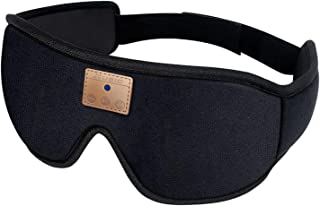 KESOTO Fone de ouvido estéreo sem fio Bluetooth, fone de ouvido com máscara para os olhos para dormir, faixa de música esp...